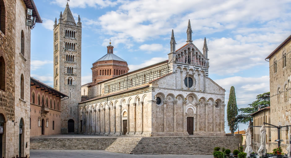 Massa Marittima with its Romanesque style cathedral